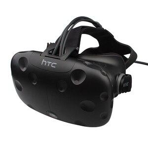 Гарнитура виртуальной реальности VIVE, только с подушкой для лица и длинным кабелем, 90% тестирование перед отправкой