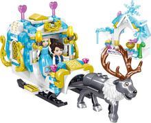 Girls Friends Royal Elk Sled Castle Building Blocks Princess Windsor Toys Girl B714