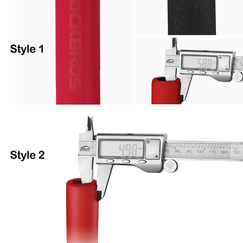 Велосипедные ручки ROCKBROS MTB силиконовые губчатые накладки на ручки Анти-занос, мягкие велосипедные ручки, поглощающие удар