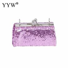 Purple Sequin Women Clutch Bag Wedding Purse Luxury Red Womens Shiny Clutches Glitter Evening Bling Wallet Sac