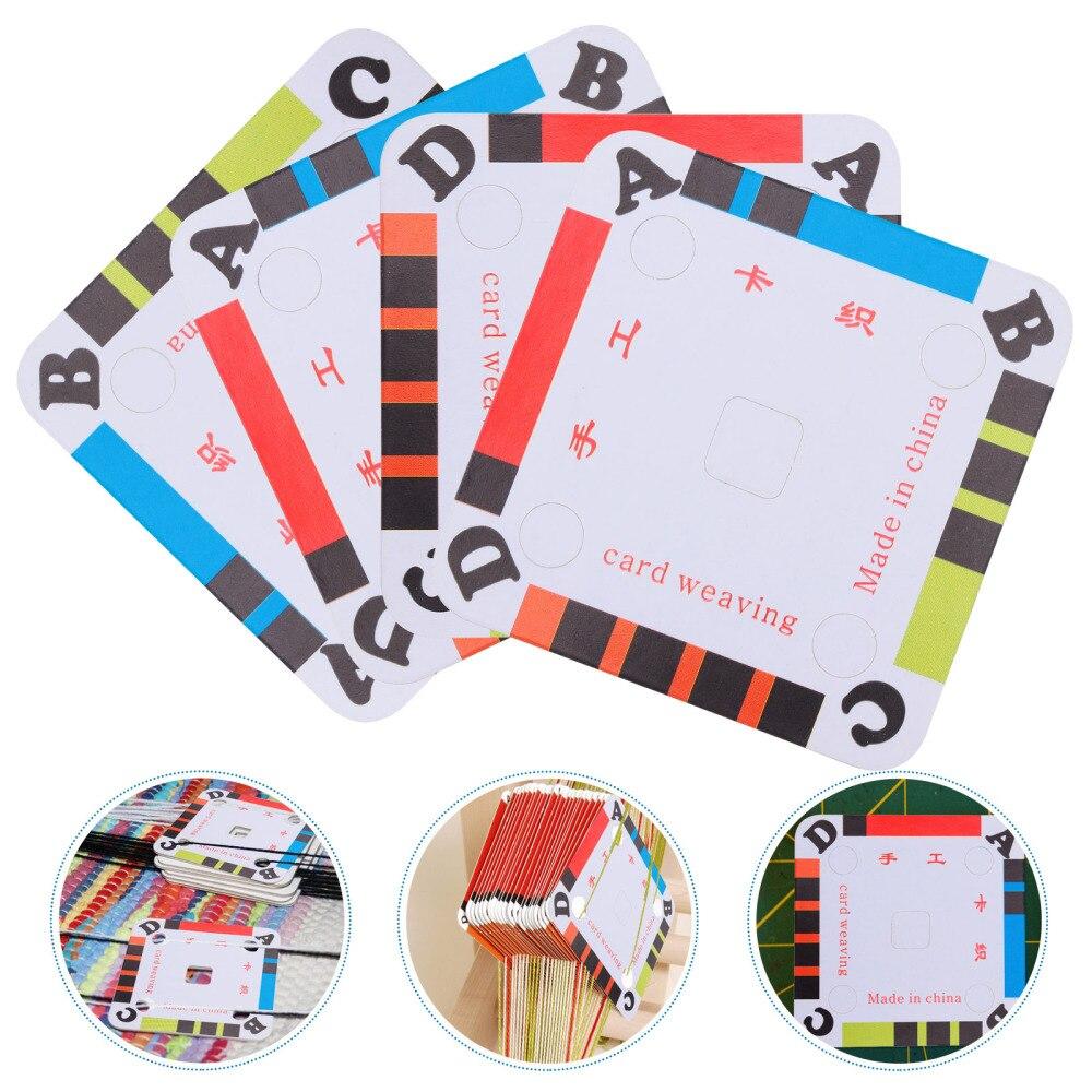 100 шт. плетения карты Бумага жгутовых полосок карты планшеты для круглоткацком станке принадлежности