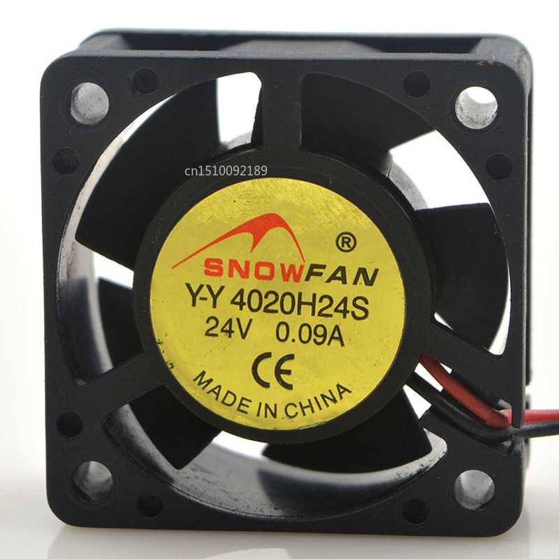 For Snowfan Y-Y 4020H24S Inverter Mute Cooling Fan DC 24V 0.09A 8000RPM 4020 4cm 40*40*20mm 2 Wires Free Shipping
