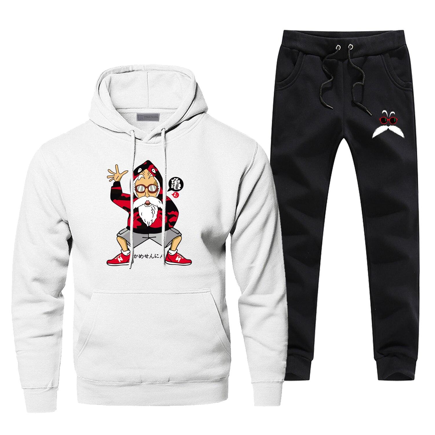 Ahegao T-Shirt Sweatpants Tracksuit Set Sweatshirt Joggers Pants Sports Trousers