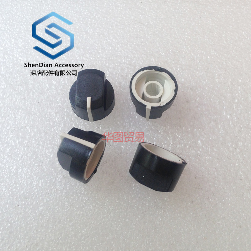 4pcs 100% New Duckbill Type Knob 19 * 14mm Rotary Potentiometer Encoder Band Switch Audio Knurled Shaft Hole 6mm