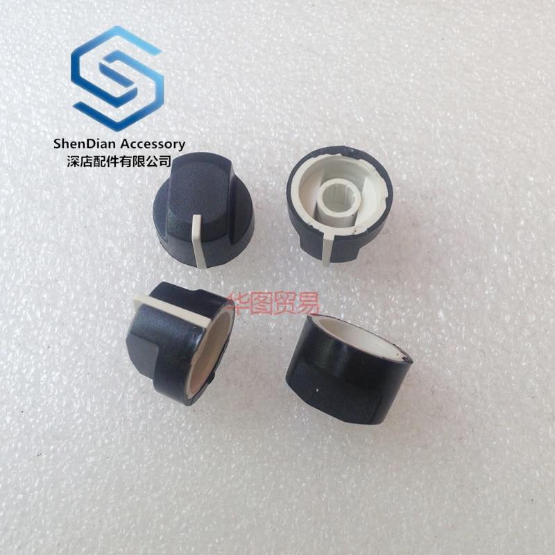 4pcs 100% New Duckbill Type Knob 19 * 14mm Rotary Potentiometer Encoder Band Switch Audio Knurled Shaft Hole 6mm