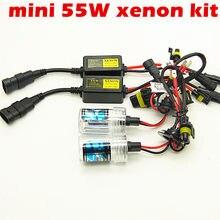 Super mini H7 55w XENON lastro XENON H11 H1 6000K 9005 9006 880 881 H3 H8 H9 HB3 HB4 H4 hid farol do carro 8000k 10000k 4300k