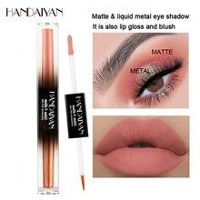 HANDAIYAN Double-end Matte Glitter Liquid Eyeshadow Waterproof Nude Eye Pigment