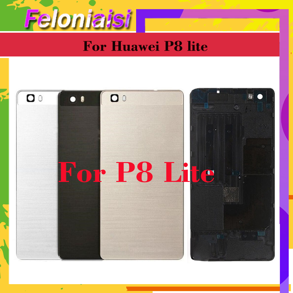 10Pcs lot 5 0 quot For Huawei P8 LITE ALE L04 ALE L21 ALE TL00 ALE L23 Housing Battery Cover Back Cover Case Rear Door Chassis Shell in Mobile Phone Housings amp Frames from Cellphones amp Telecommunications