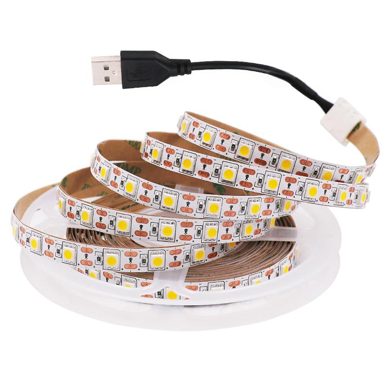 H41f767cd5b0d4aee8c17ab1878da0a22o - 5V USB TV LED Strip Light Lamp Tape 3528 SMD Diode Flexible HDTV TV Desktop Screen Backlight Decor RGB Bias Lighting 0.5M/1M