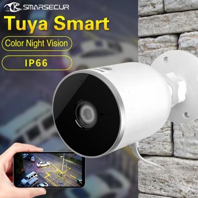 2019 caméra IP Tuya vie intelligente WiFi 1080P sécurité à domicile caméra extérieure Vision nocturne infrarouge Audio bidirectionnel