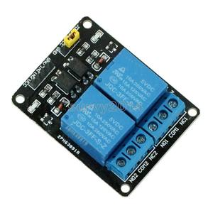 5V Two 2CH 2 Channel Relay Module Board With Optocoupler For Arduino 8051 AVR PIC DSP ARM MSP430 TTL Logic AC 250V 10A DC 30V