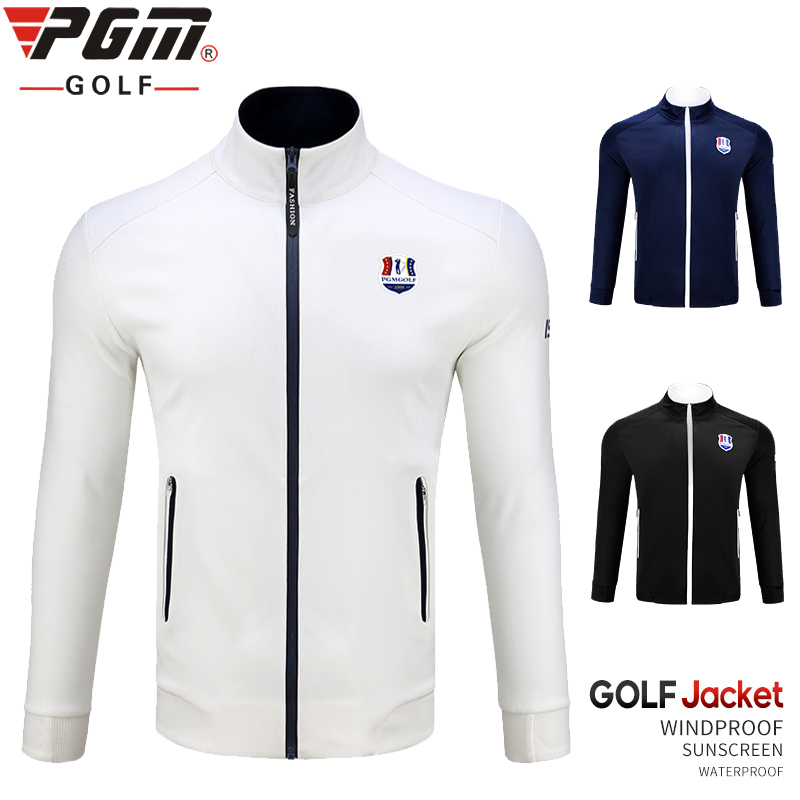 1 Piece golf Jacket  PGM Men Clothes Tops Men's Trench Coat Fall Winter Windproof Warm Waterproof Sports Jacket|Golf Jackets| |  - title=