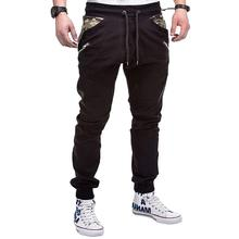 Casual Trousers Sportswear Camouflage stitching tether belt Sweatpants Joggers & Sweats Trouserspants New