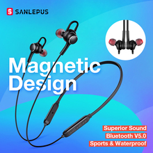 SANLEPUS אוזניות אלחוטי אוזניות Bluetooth אוזניות ספורט Hifi אוזניות Neckband אוזניות עם מיקרופון עבור Xiaomi אנדרואיד