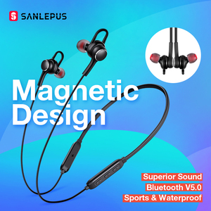 Image 1 - SANLEPUS Earphone Wireless Headphones Bluetooth Earphones Sport Hifi Headset Neckband Earbuds With Microphone For Xiaomi Android