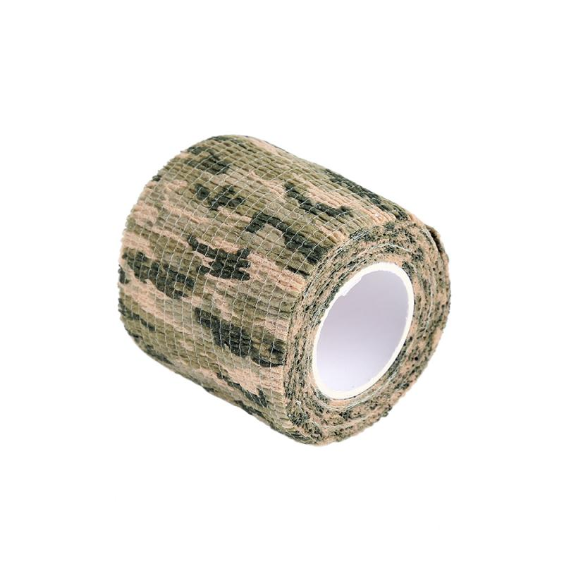 4.5*500cm Hunting Tape Camouflage Stealth Camping Hunt Shooting Tool Series Of Waterproof Non-woven Tape Mixed Adhesive Camo Tap
