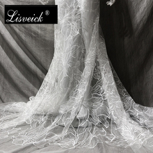 1yard new polyester yarn embroidered jacquard mesh lace fabric high-end dress / womens wedding embroidery