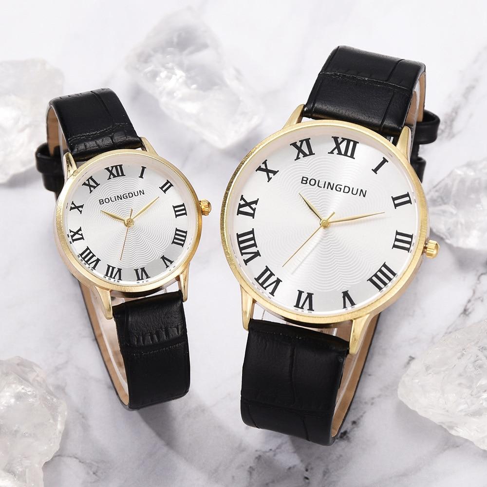 Simple Lovers Watches Men Women Casual Leather Strap Quartz  Unisex Watch  Women's Dress Couple Watch Clock Gifts Relogios Femin