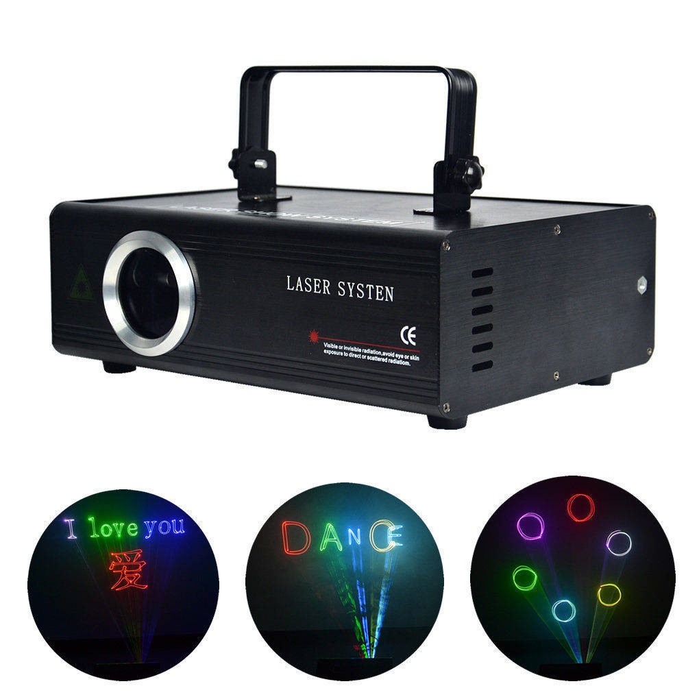 AUCD 500mW Color RGB Laser Color Full Program Program SD ILDA Proiectoare ILDA 24 CH DMX Scanare de animație DJ Show Stage Lighting DAF5