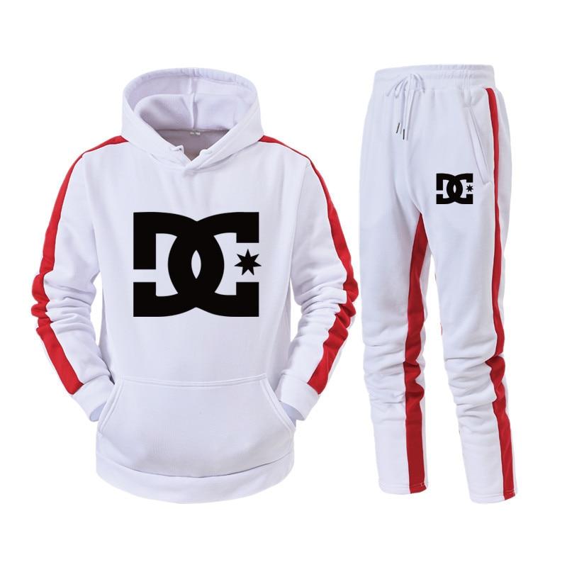 Мужские спортивные комплекты DC, толстовка с капюшоном и штаны, спортивные костюмы, повседневный спортивный костюм, мужская спортивная одеж...