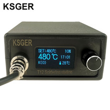 KSGER T12 паяльная станция STM32 V2.1S OLED DIY 907 ручка электрические инструменты регулятор температуры держатель сварочные наконечники T12 паяльник