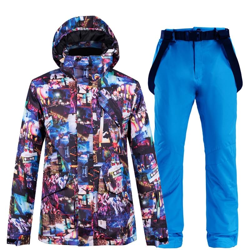 -30°C Warm Ski Suit Women Snowboard Waterproof Outerwear High Quality Ski Suit Women Skiing Jackets +Pants Outdoor Ski Suits