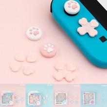 D pad לנוע צלב כיוון כפתור ABXY X מפתח מדבקת ג ויסטיק אגודל מקל אחיזת כובע כיסוי עבור Nintend מתג NS שמחה קון עור מקרה