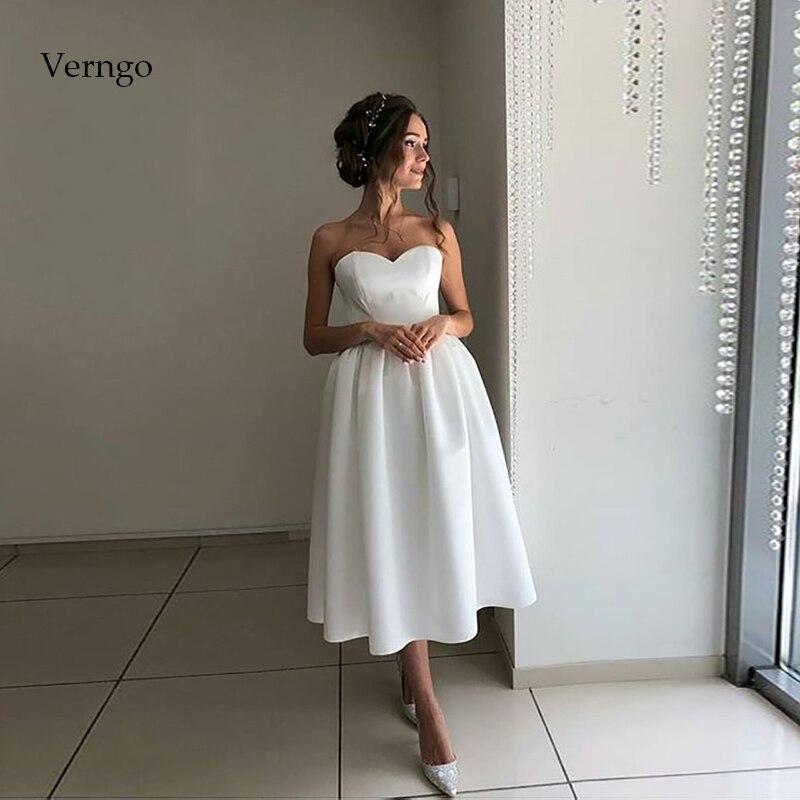 Простое вечернее платье Verngo, короткое официальное платье вечерние платья цвета слоновой кости на выпускной, простые платья на День святого Валентина, элегантные платья Вечерние платья    АлиЭкспресс