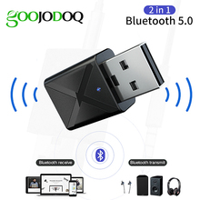 2 in 1 Bluetooth 5.0 Adapter Receiver Transmitter Mini 3.5mm AUX Stereo For Car Home TV Heaphone Speaker