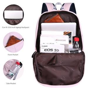 Image 4 - Fengdong sacchetti di scuola per le ragazze adolescenti bambini svegli del fiore zaino scuola femminile nero floreale bambini zainetto bookbag regalo della ragazza