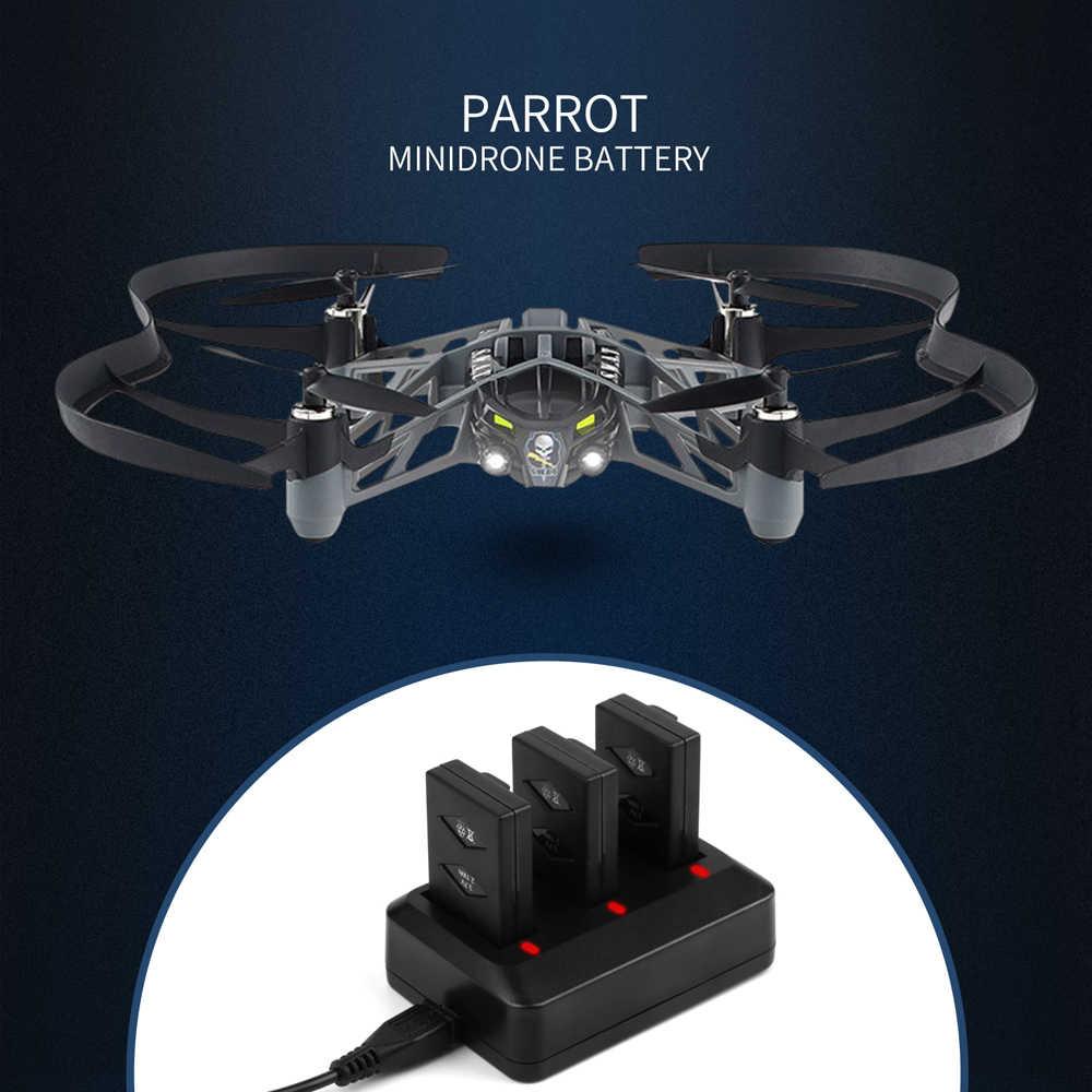 Morpilot 3-Pack 3.7V 600mAh 20C li-po batterie pour perroquet Mini Drone pour perroquet sautant Sumo Swing Mambo roulant araignée