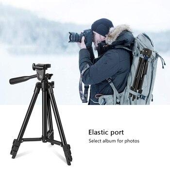 Trípode de aleación de aluminio para cámara, soporte profesional para fotografía de teléfono inteligente, suministros para cámara DSLR Gopro