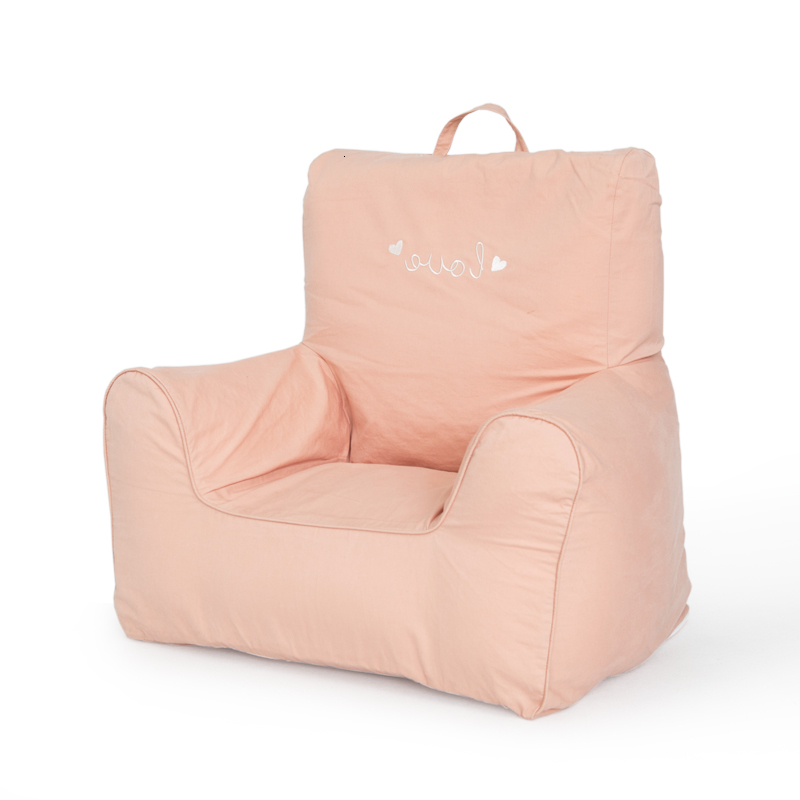 Children Lazy People Sofa Kindergarten Cartoon Single Person Small Chair Baby Learn Sit Sofa Bean Bag Zitzak Kids Bedroom Pink