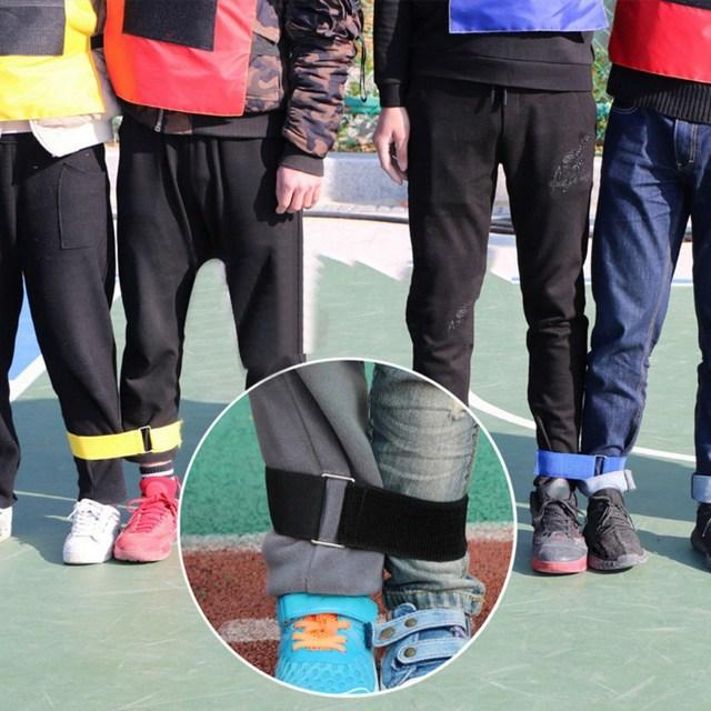 Deux cordes à trois pattes jeu de plein air bande élastique sport déquipe sport parent-enfant pieds attachés mains élastiques corde robuste 20