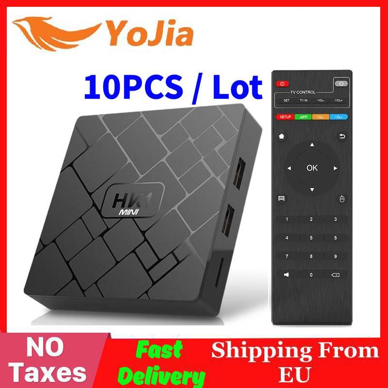 (Expédition rapide de l'ue sans taxe) 10 pièces/lot HK1 MINI Smart TV BOX Android 9.0 RK3229 Quad core 2GB 16G 2.4G Wifi HK1MINI Sep boîte supérieure