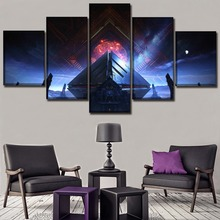 Modular Pictures HD Print Poster 5 Pieces Destiny Game Warmind Painting Wall Art Living Room Home Decorative Framework