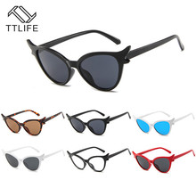 TTLIFE New Retro Fashion Sunglasses Women Brand Designer Vintage Cat Eye Black Sun Glasses Female Lady UV Oculos Shades Eyewear