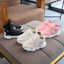fashion Breathable kids sneakers mesh comfortable soft girls boys shoes footwear Lovely summer solid children sandals