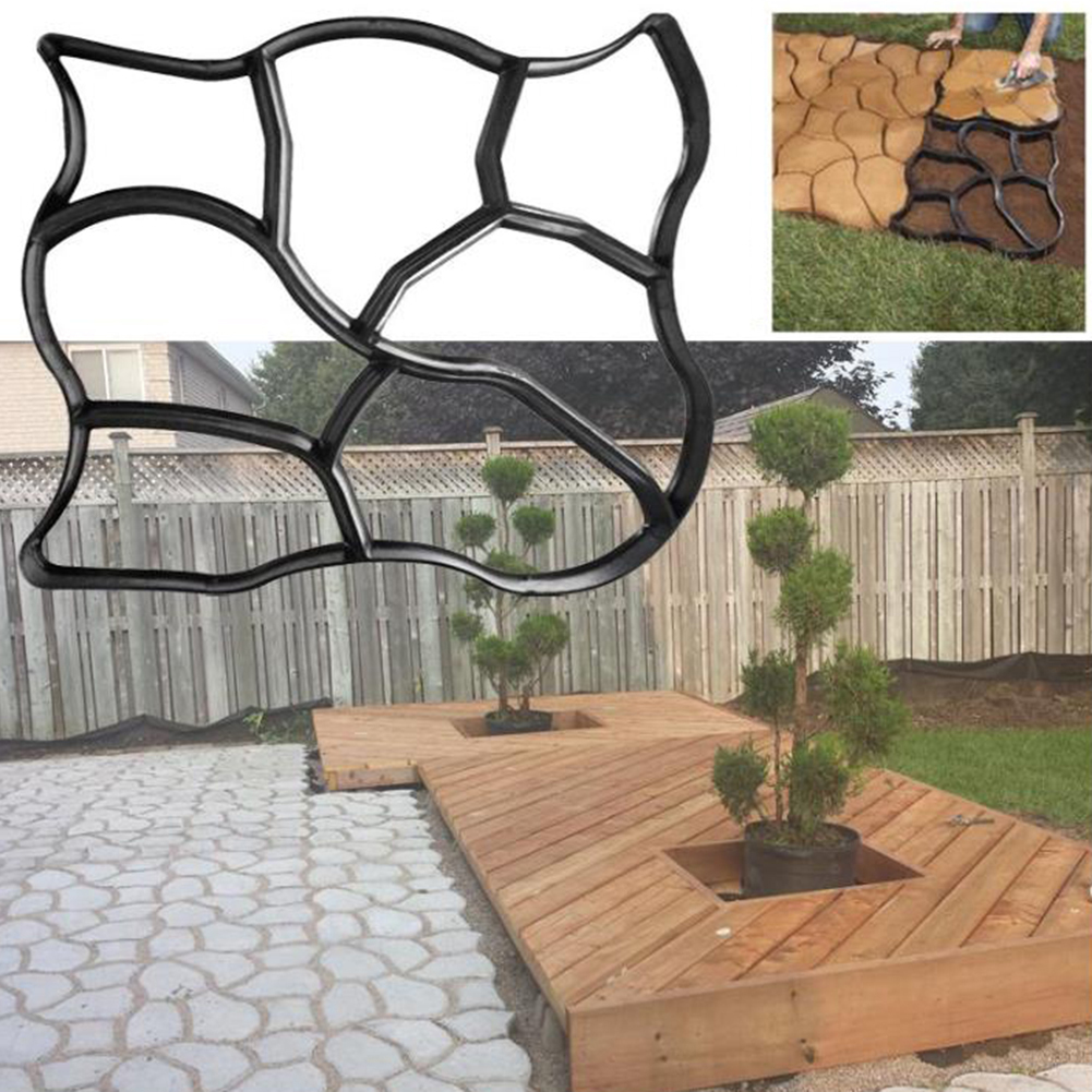 cheapest Plastic Garden Path Maker Paving Cement Mold Road Concrete Pavement Mold for Creating Pavement Walkways Paths Patios Picnic Area