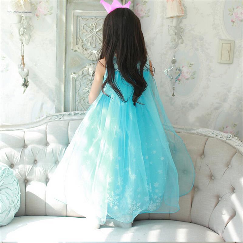 H41f9e9c090714b61b721bdae51955b78V Girls Elsa Dress Costume Princess Anna Dresses Cosplay Party Summer Baby Kids Children Fancy Baby Girl Clothes elza vestidos