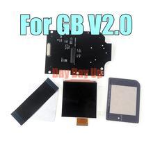 1 zestaw wymiana IPS LCD zestawy pełnoekranowe dla GB DMG podświetlenie podświetlenie jasność 36 Vintage tło kolory szlane ekran