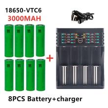 100% original novo 3.7v 3000 mah li ion 18650 bateria para sony us18650 vtc6 3000 mah 18650 bateria 3.7v + 1pcs carregador de bateria