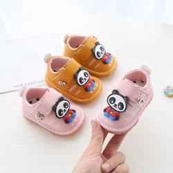 4 цвета для маленьких мальчиков и девочек, первые ходунки, мультфильм, противоскользящие туфли, мягкая подошва, скрипучие кроссовки для