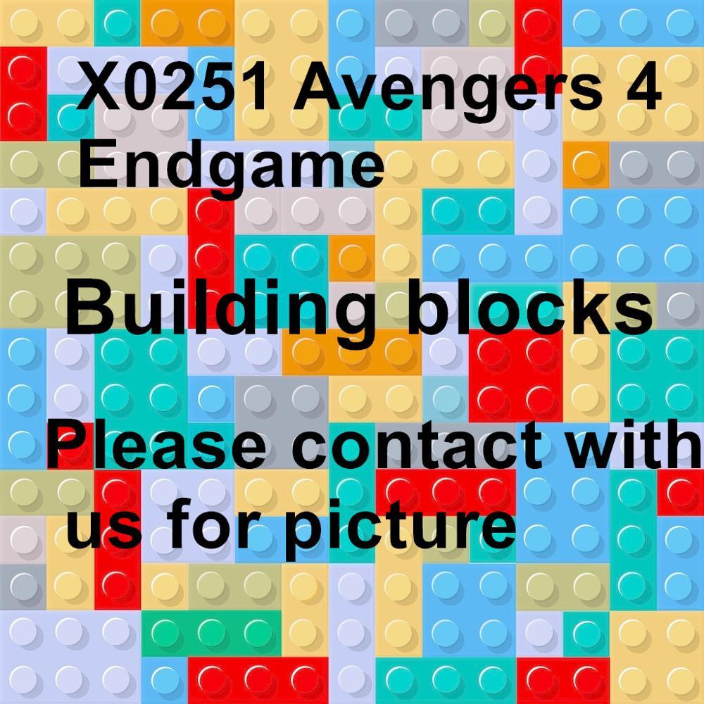 80 sztuk X0251 Avengers 4 końcówki kwantowej garnitur Super Heroes Legoe Thanos Thor rakieta szop wojny maszyna do klocki zabawki w Klocki od Zabawki i hobby na  Grupa 1