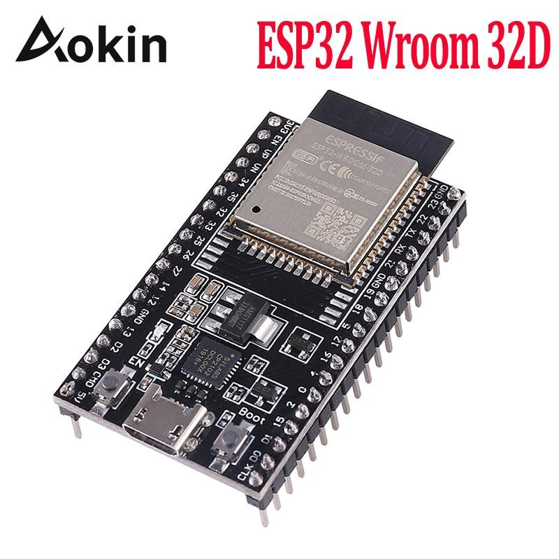 Макетная плата Aokin с поддержкой Wi-Fi и Bluetooth, ESP32, номер 32D