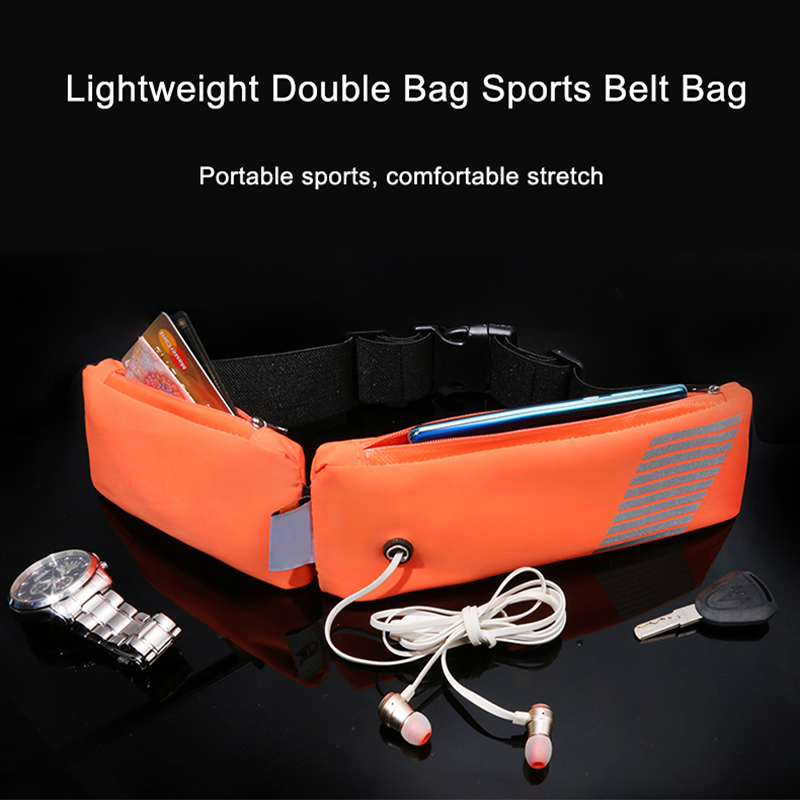 2019 TPU New Waterproof Cycling Bum Bag Outdoor Phone Anti-theft Pack Belt Bags Sports Running Waist Double Pocket Jogging Bags