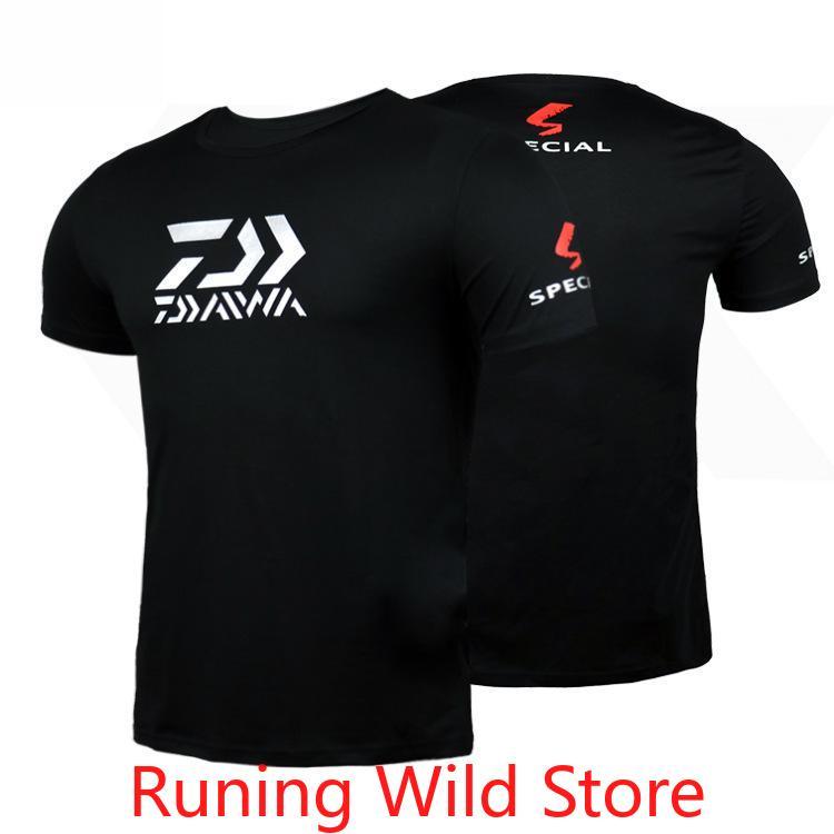 2020 DAIWA Quick Dry Short sleeve Sunscreen Cool Fishing Clothing Autumn Fishing Shirt Mosquito Proof Fishing Jersey Sportswear|Fishing Clothings| |  - title=