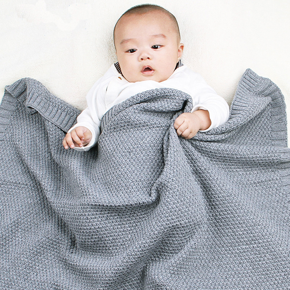 CYSINCOS Knitted Baby Blanket Newborn Swaddle Wrap Infant Toddler Sofa Bedding Sleeping Blankets Baby Outdoor Stroller Accessory