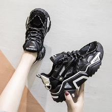Zapatillas de deporte para exteriores para mujer, zapatos deportivos para caminar, con plataforma acolchada, transpirables