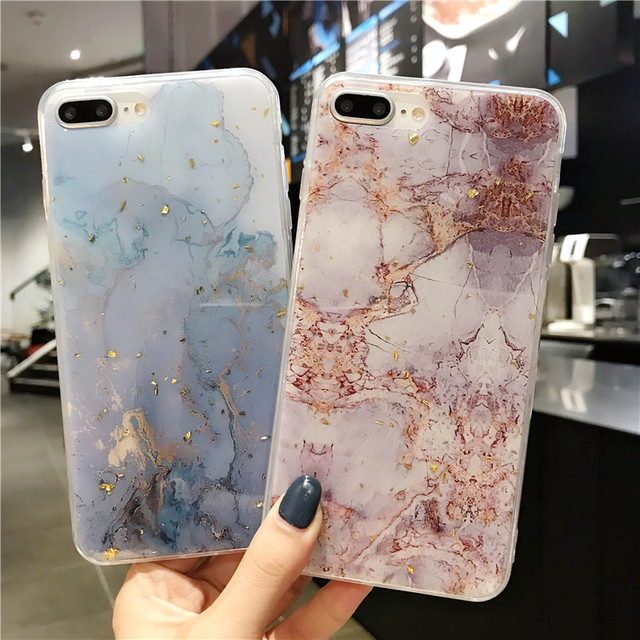 Lovebay Phone Case For iPhone 11 6 6s 7 8 Plus X XR XS Max Luxury Bling Gold Foil Marble Glitter Soft TPU For iPhone 11 Pro Max 2